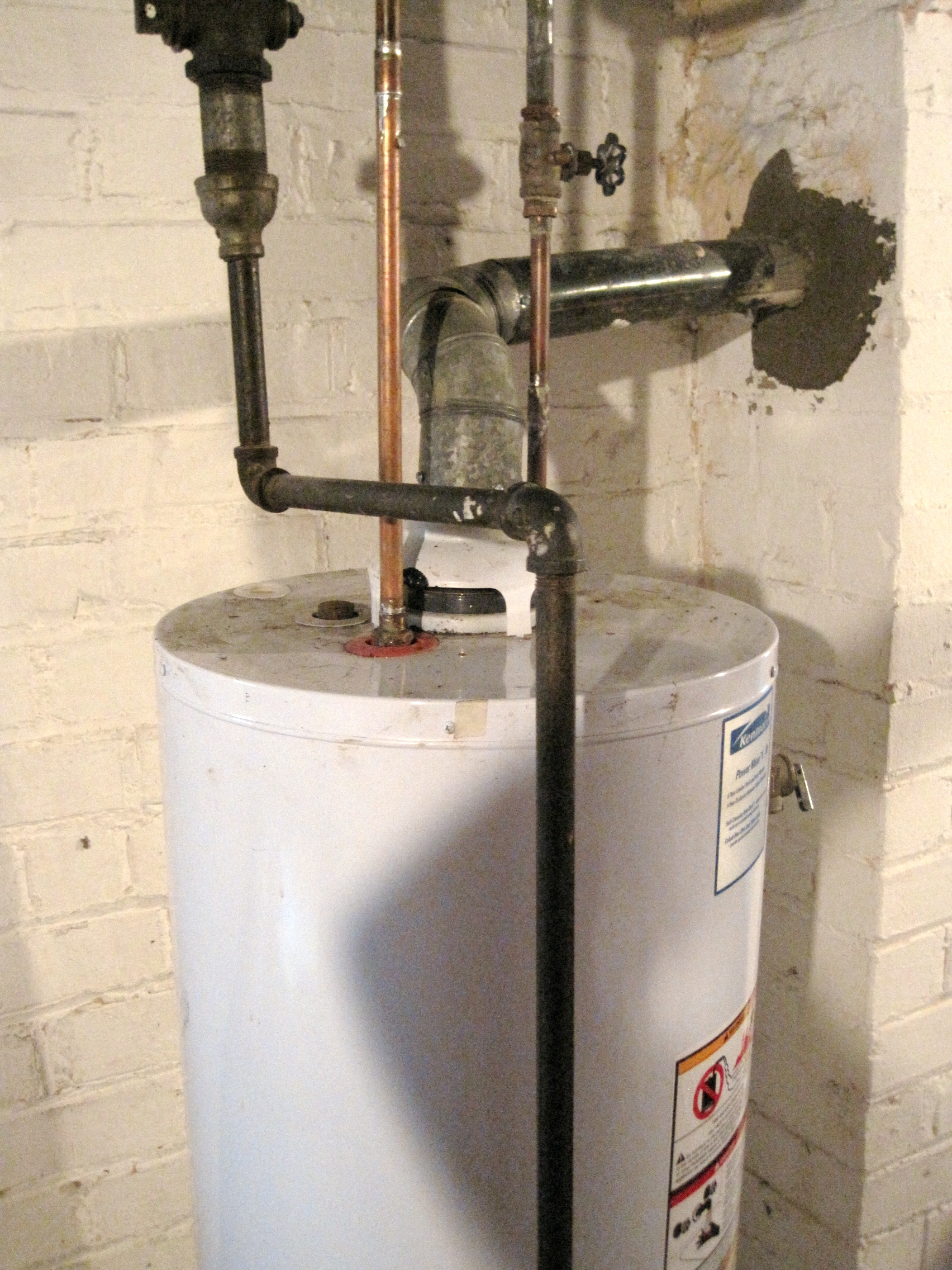 How to vent a hot water heater - When The Hvac Guy Turned Off The Water Heater