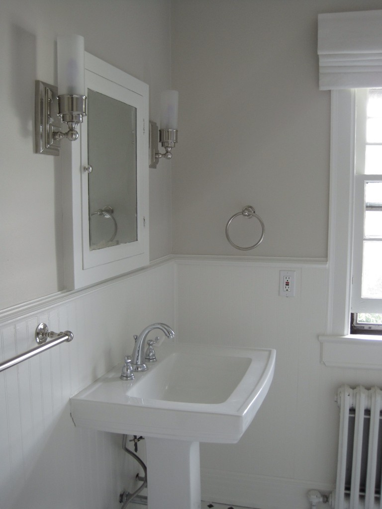 Guest bathroom paint and more progress! – The Writer and ...