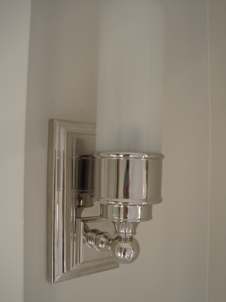 Bathroom tube sconce